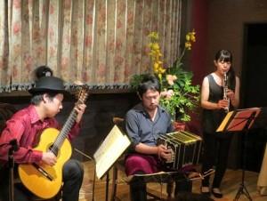 京都 ギター、バンドネオン、クラリネット