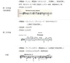ギター音楽大賞2016年 課題曲