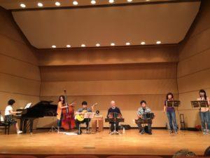 『アストロリコ第23回神戸公演Vintage Tango』バンドネオン、バイオリン、ピアノ、コントラバス、クラリネット、ギター