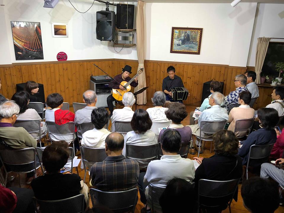 大津市ぼうずホール バンドネオン&ギター タンゴ・グレリオ