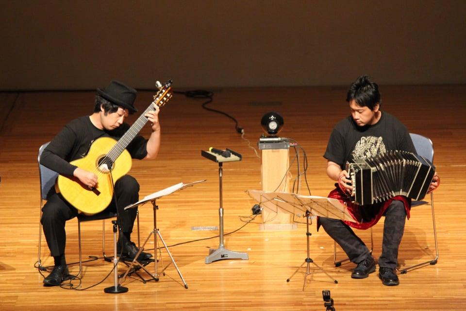 大阪アポヤン道ギターフェスティバル バンドネオン・星野俊路 ギター・米阪隆広 タンゴ・グレリオ