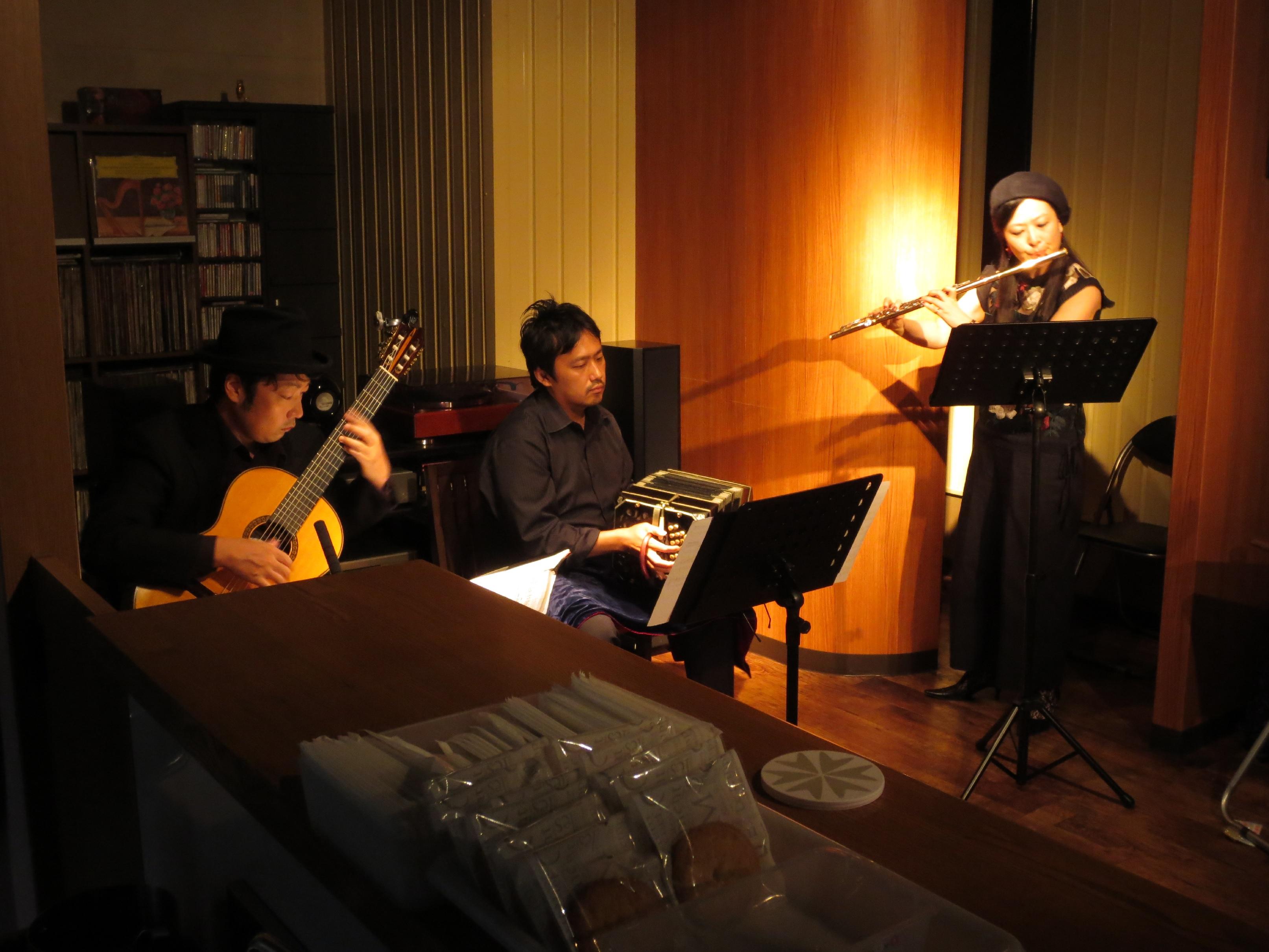 バンドネオン&ギター「タンゴ・グレリオ」 フルート・山村有佳里