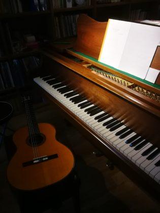 米阪ギター教室 ピアノとの2重奏のリハーサル