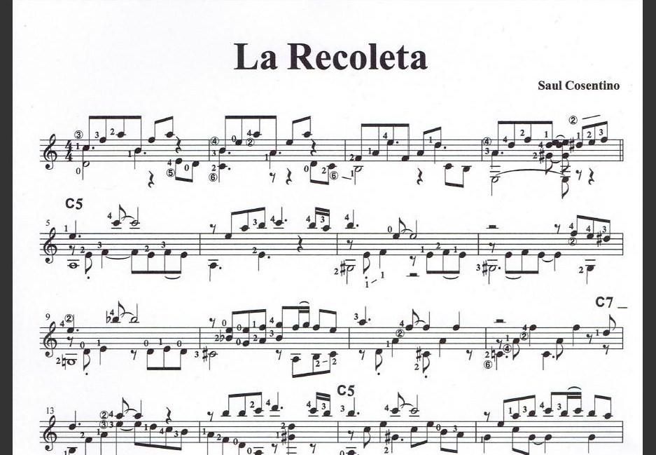 タンゴギターソロ『ラ・レコレータ』