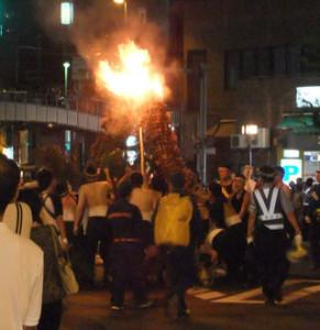 池田市 がんがら火祭り