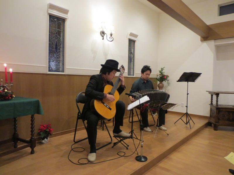八幡市 バンドネオン&ギター演奏