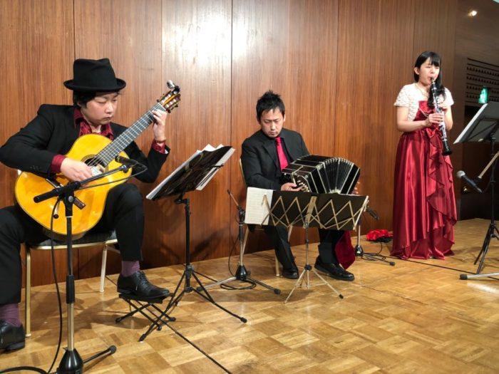 大津市 琵琶湖ホテルでギター・クラリネット・バンドネオン演奏