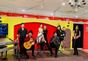 阪急百貨店梅田 タンゴ・グレリオ アルゼンチンタンゴ バンドネオン ギター バイオリン ピアノ