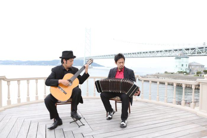 タンゴ・グレリオ バンドネオン・星野俊路、ギター・米阪隆広 旧武藤山治邸