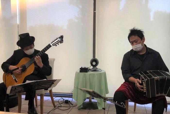 池田市民文化会館Bridge  タンゴ・グレリオ バンドネオン・星野俊路 ギター・米阪隆広